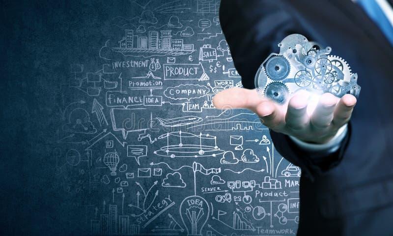 Ενεργοποιώντας μηχανισμός εργαλείων επιχειρηματιών στοκ εικόνα με δικαίωμα ελεύθερης χρήσης