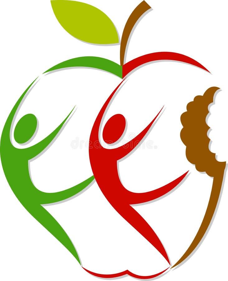 ενεργό λογότυπο μήλων διανυσματική απεικόνιση