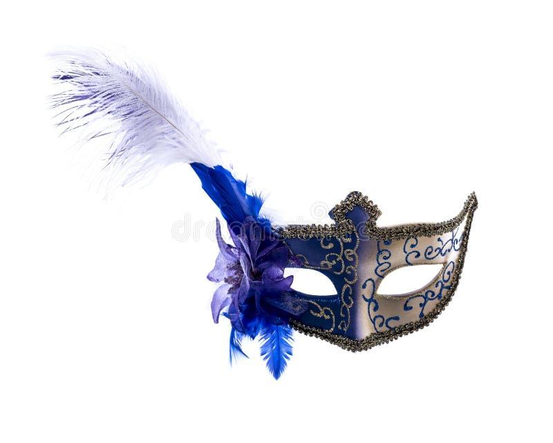Ενετική μάσκα καρναβαλιού που απομονώνεται στην άσπρη ανασκόπηση στοκ εικόνα