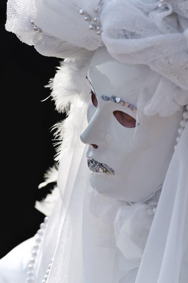 ενετικό λευκό μασκών ανα&sig στοκ εικόνα με δικαίωμα ελεύθερης χρήσης
