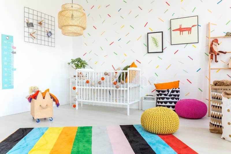 Ενημερωμένο εσωτερικό του δωματίου μωρών στοκ φωτογραφία με δικαίωμα ελεύθερης χρήσης