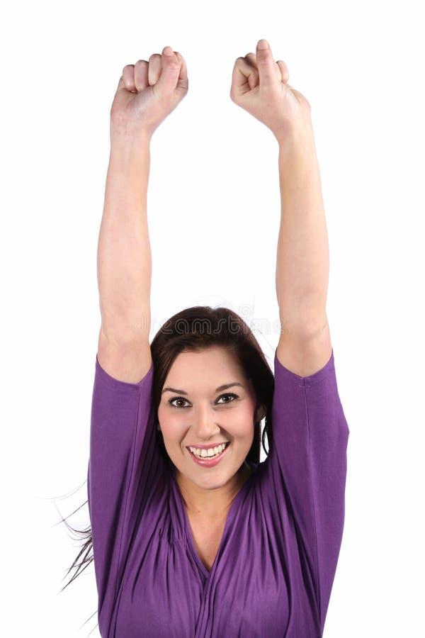 ενθαρρυντικό κορίτσι brunette στοκ φωτογραφίες με δικαίωμα ελεύθερης χρήσης