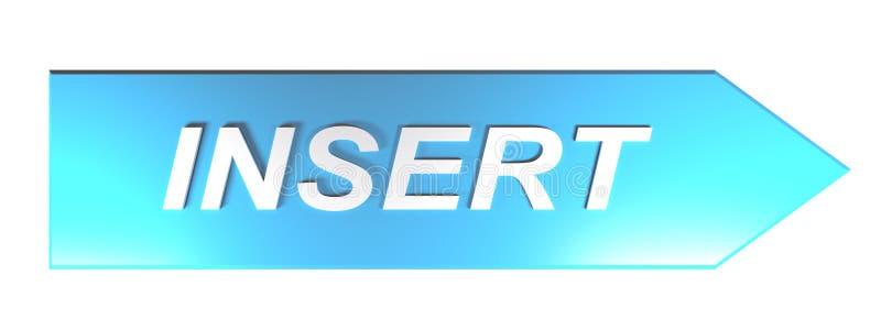 ΕΝΘΕΤΟ στο μπλε βέλος - τρισδιάστατη απόδοση διανυσματική απεικόνιση