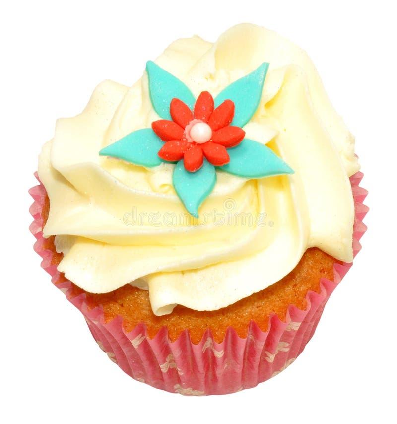 Ενιαία βανίλια Cupcake στοκ εικόνα