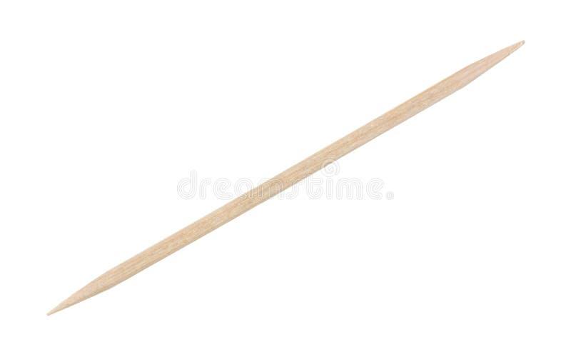 Ενιαία λεπτή ξύλινη οδοντογλυφίδα στοκ φωτογραφίες με δικαίωμα ελεύθερης χρήσης