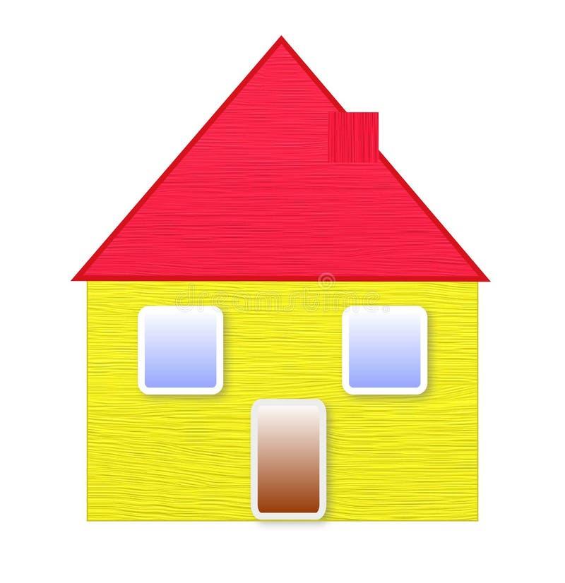 Ενιαία οικογενειακή κατοικία απεικόνιση αποθεμάτων