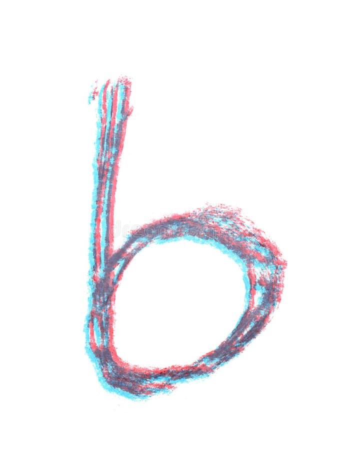 Ενιαία συρμένη χέρι επιστολή που απομονώνεται στοκ εικόνες