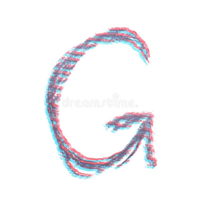 Ενιαία συρμένη χέρι επιστολή που απομονώνεται στοκ φωτογραφία με δικαίωμα ελεύθερης χρήσης