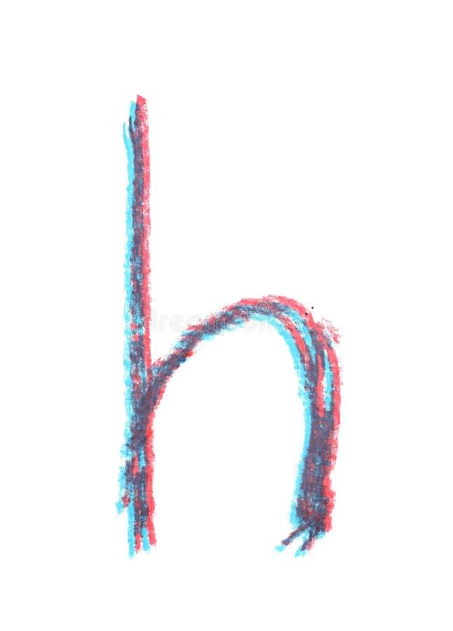 Ενιαία συρμένη χέρι επιστολή που απομονώνεται στοκ φωτογραφία