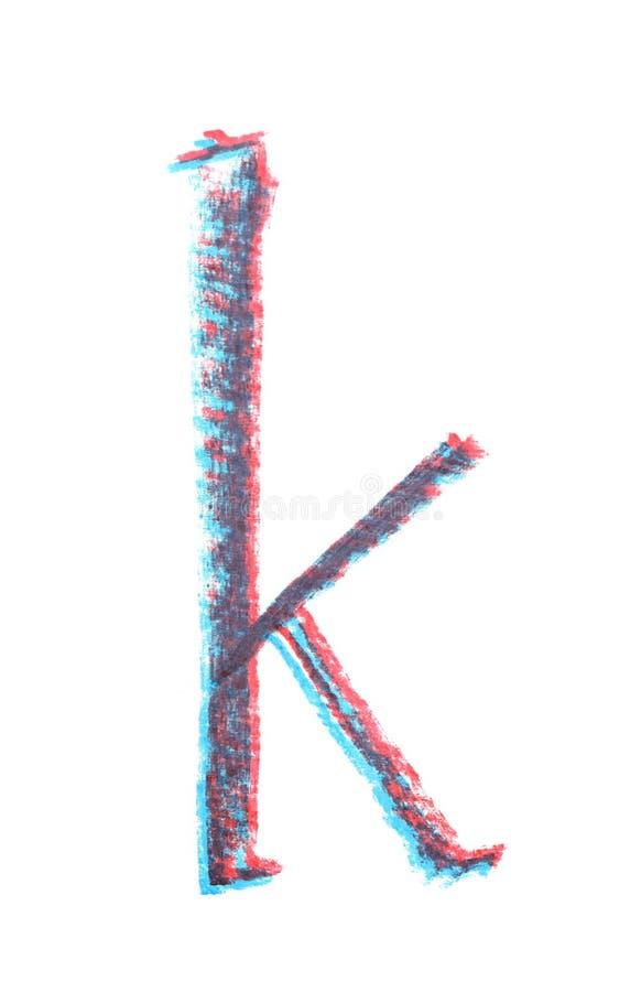 Ενιαία συρμένη χέρι επιστολή που απομονώνεται στοκ εικόνα