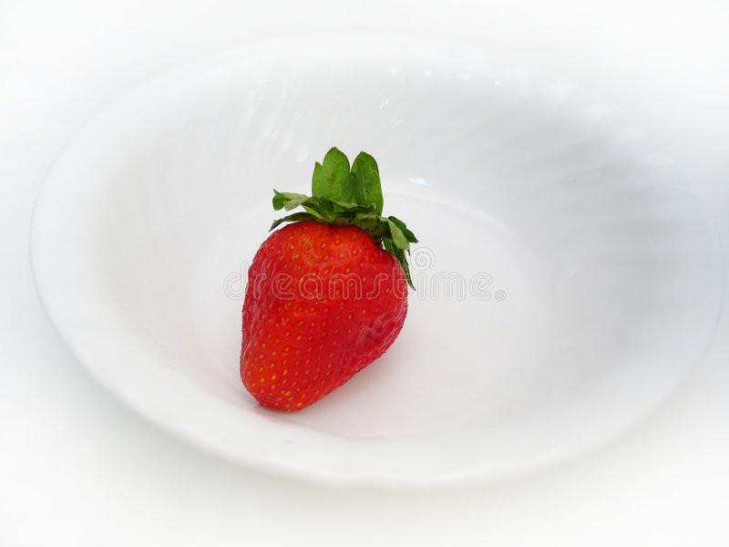 ενιαία φράουλα στοκ φωτογραφία