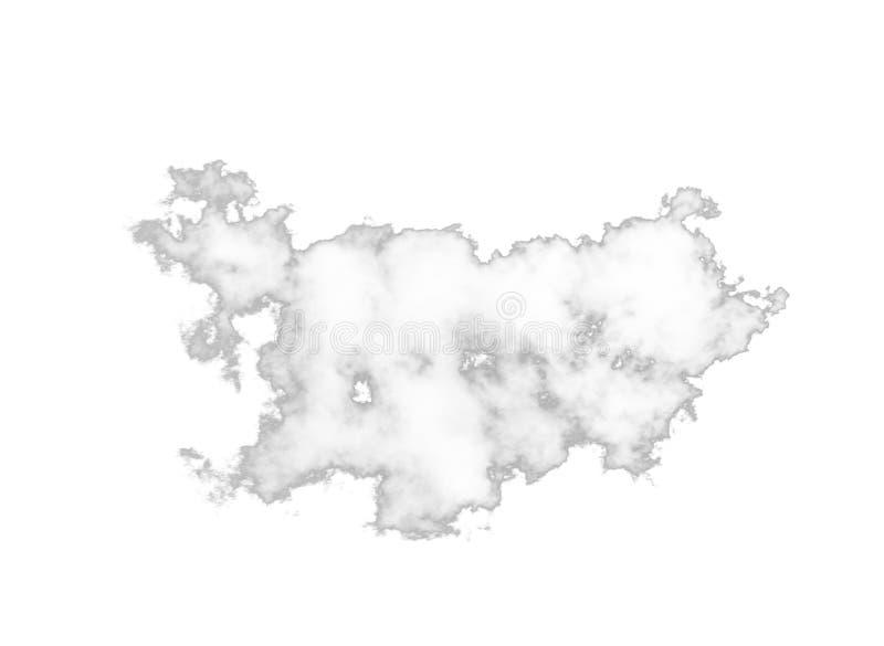 Ενιαίο άσπρο σύννεφο που απομονώνεται στο λευκό στοκ εικόνα