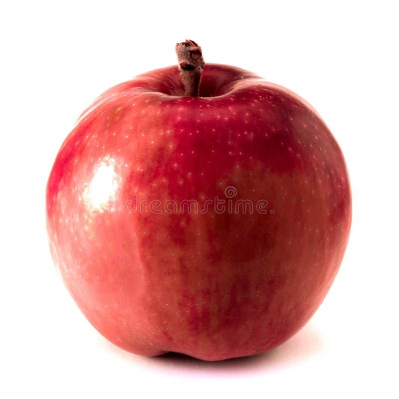 Ενιαίο κόκκινο μήλο που απομονώνεται στο άσπρο υπόβαθρο στοκ φωτογραφίες