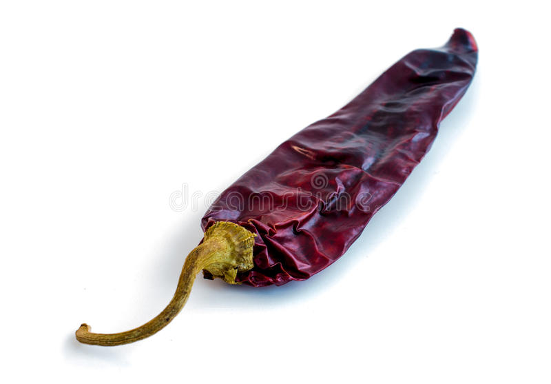 Ενιαίο ξηρό κόκκινο τσίλι (Χιλή) στοκ φωτογραφίες με δικαίωμα ελεύθερης χρήσης