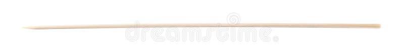 Ενιαίο ξύλινο οβελίδιο που απομονώνεται στοκ εικόνα με δικαίωμα ελεύθερης χρήσης