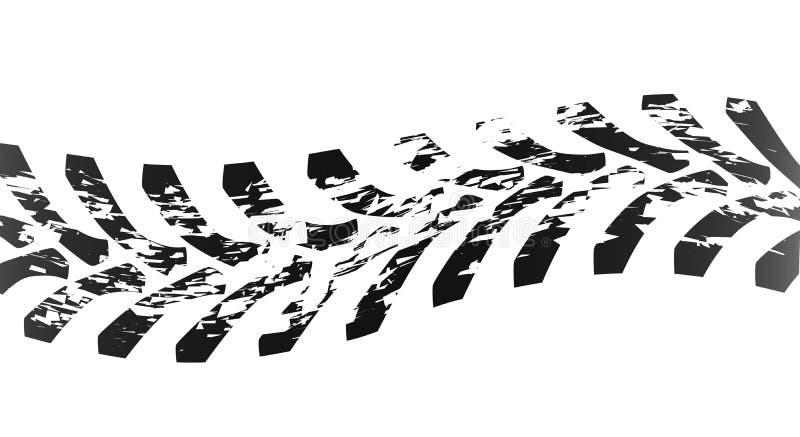 Ενιαίο σημάδι ελαστικών αυτοκινήτου τρακτέρ απεικόνιση αποθεμάτων