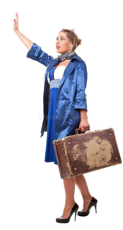 Ενιαίο ταξίδι γυναικών στοκ φωτογραφία με δικαίωμα ελεύθερης χρήσης
