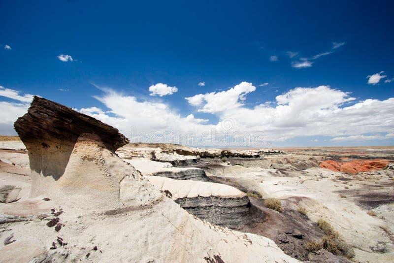 Ενιαίο hoodoo στην ξηρά αγριότητα Νέων Μεξικό στοκ φωτογραφία