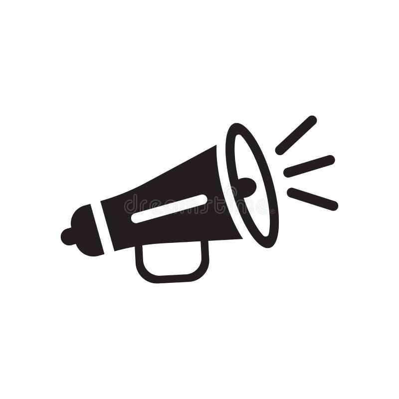 Ενισχυμένα σημάδι και σύμβολο εικονιδίων ομιλητών διανυσματικά που απομονώνονται στο λευκό απεικόνιση αποθεμάτων