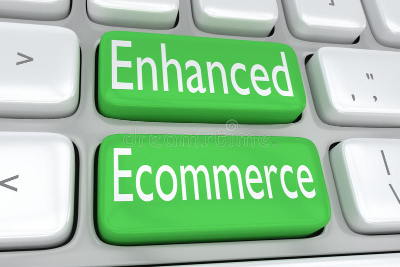 Ενισχυμένη έννοια ηλεκτρονικού εμπορίου διανυσματική απεικόνιση