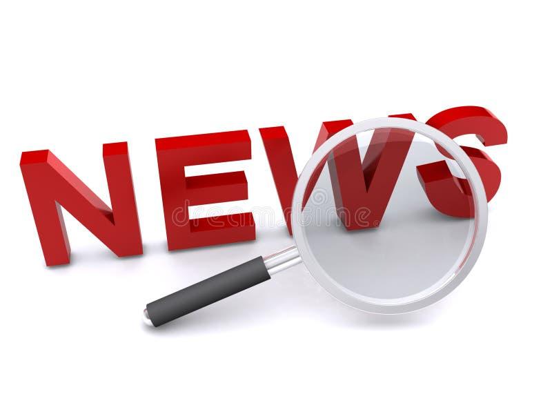 ενισχυμένη λέξη ειδήσεων απεικόνιση αποθεμάτων