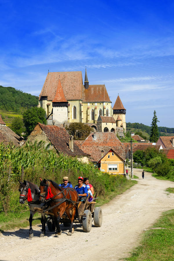 Ενισχυμένη Biertan εκκλησία, Ρουμανία στοκ εικόνες