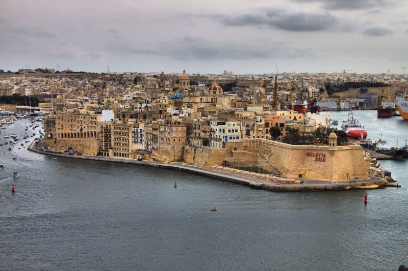Ενισχυμένη Senglea πόλη στη Μάλτα στοκ φωτογραφία με δικαίωμα ελεύθερης χρήσης