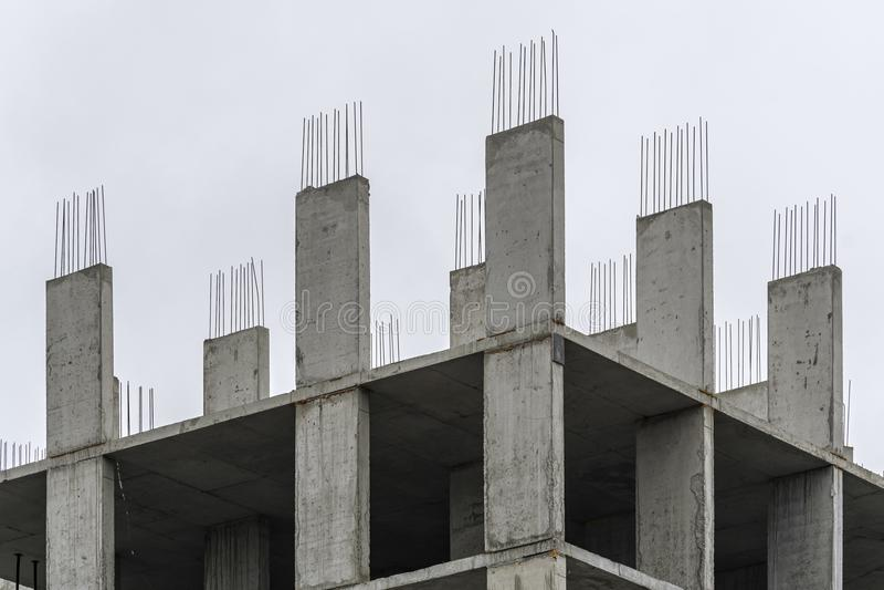 Ενισχυμένο συγκεκριμένο πλαίσιο οικοδόμηση κτηρίου νέα στοκ εικόνες με δικαίωμα ελεύθερης χρήσης