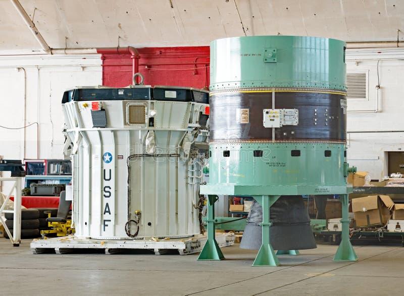 Ενισχυτής πυραύλων IUS στοκ εικόνα