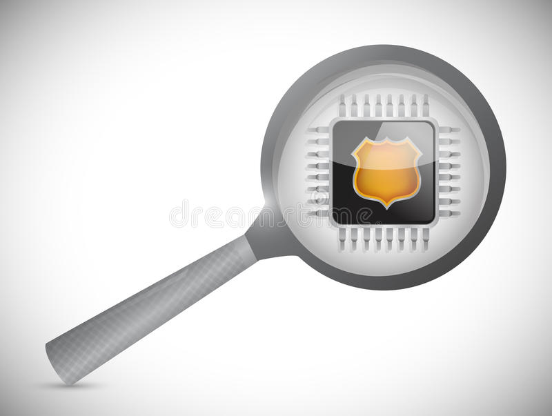 Ενισχύστε και ηλεκτρονικό τσιπ. σχέδιο απεικόνισης απεικόνιση αποθεμάτων