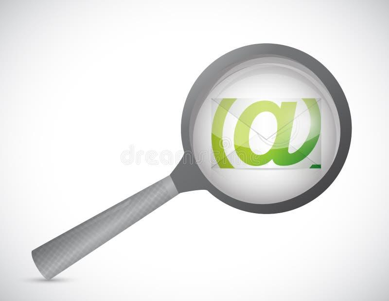 Ενισχύστε και σχέδιο απεικόνισης ηλεκτρονικού ταχυδρομείου διανυσματική απεικόνιση