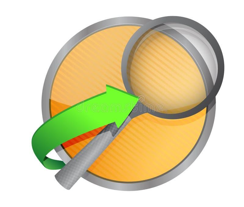 Ενισχύστε την απεικόνιση κουμπιών έννοιας αναζήτησης απεικόνιση αποθεμάτων