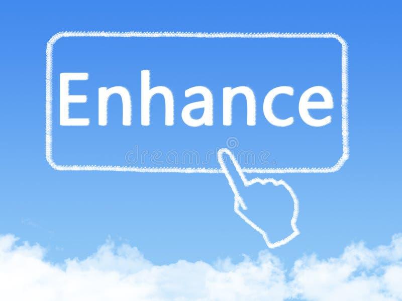 Ενισχύστε τη μορφή σύννεφων μηνυμάτων διανυσματική απεικόνιση