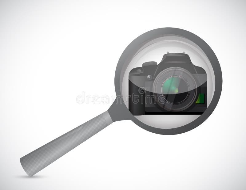 Ενισχύστε το σχέδιο απεικόνισης γυαλιού και καμερών ελεύθερη απεικόνιση δικαιώματος