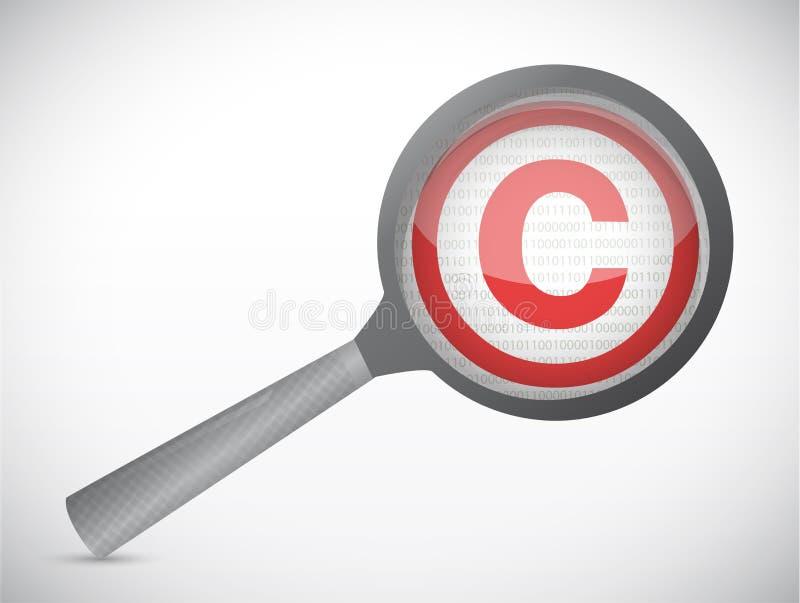 Ενισχύστε το σχέδιο απεικόνισης συμβόλων πνευματικών δικαιωμάτων διανυσματική απεικόνιση