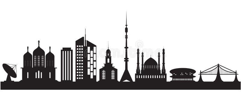 Εννέα αστικά και θρησκευτικά κτήρια απεικόνιση αποθεμάτων