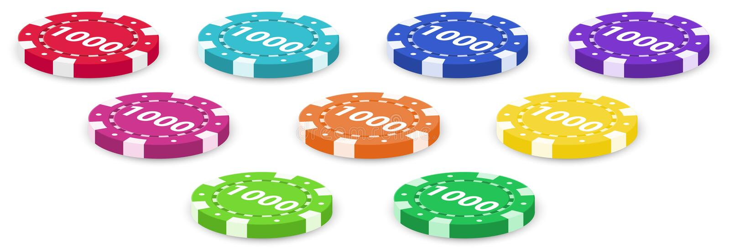 Εννέα τσιπ πόκερ απεικόνιση αποθεμάτων