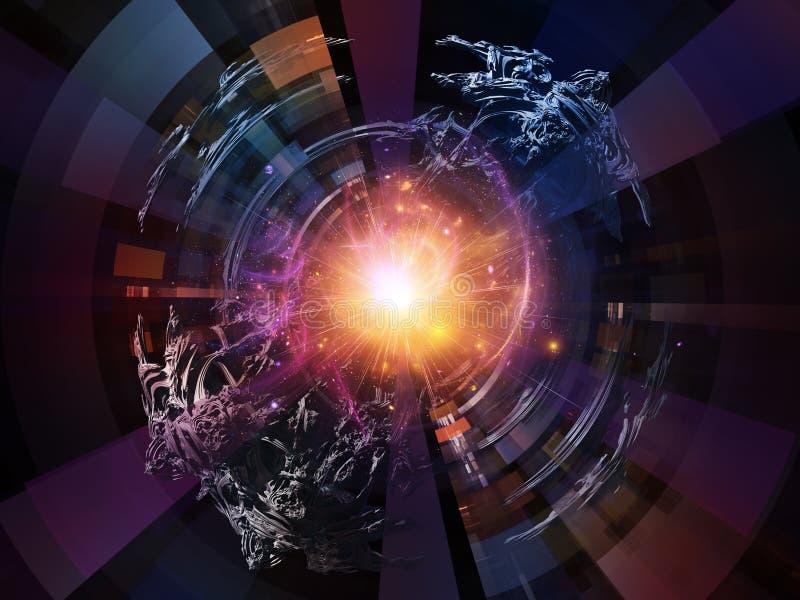 Εννοιολογικές ακτινωτές ακτίνες διανυσματική απεικόνιση