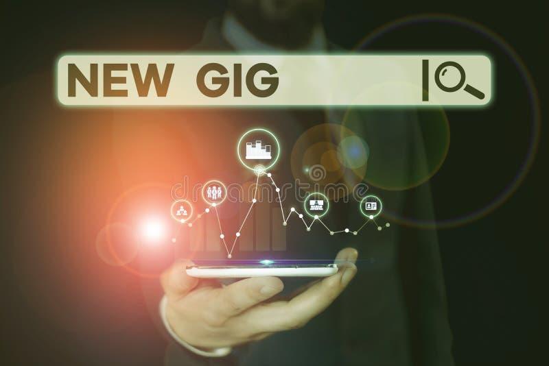 Εννοιολογική γραφή που δείχνει Νέα Gig Επαγγελματική φωτογραφία που δείχνει τη λήψη θέσης εργασίας Συμμετοχή σε ζωντανή συναυλία  στοκ φωτογραφία με δικαίωμα ελεύθερης χρήσης