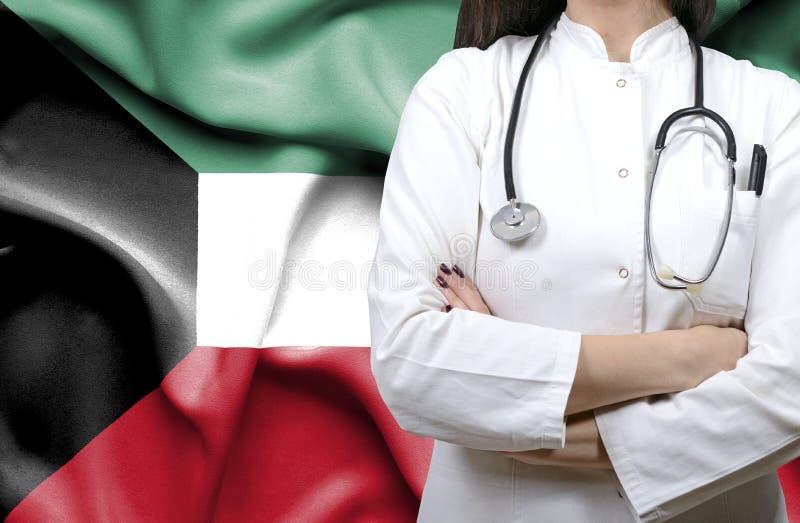 Εννοιολογική εικόνα του εθνικού υγειονομικού συστήματος στο Κουβέιτ στοκ εικόνα