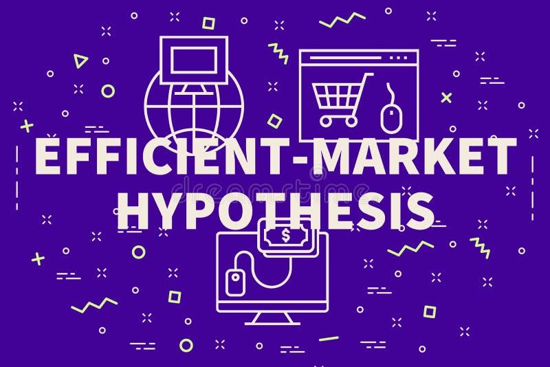 Εννοιολογική επιχειρησιακή απεικόνιση με την αποδοτικός-αγορά λέξεων ελεύθερη απεικόνιση δικαιώματος
