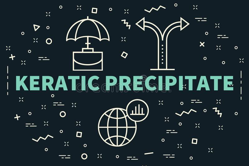 Εννοιολογική επιχειρησιακή απεικόνιση με το keratic precipit λέξεων ελεύθερη απεικόνιση δικαιώματος