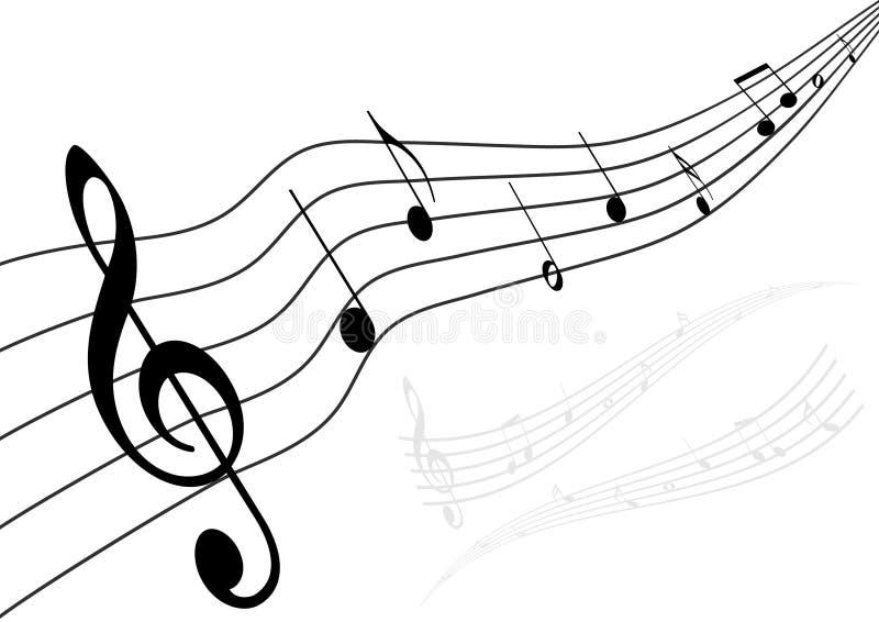 εννοιολογική μουσική απεικόνισης διανυσματική απεικόνιση