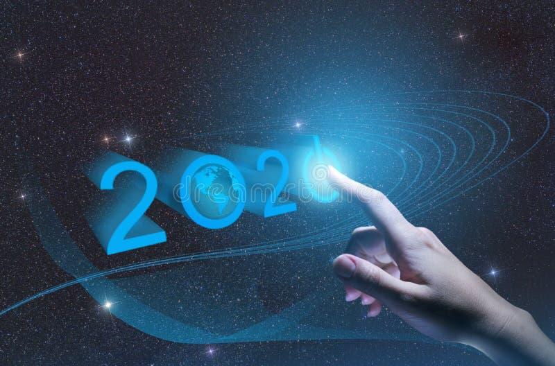 εννοιολογική σημαντική ανακάλυψη του 2020, σημαντική ανακάλυψη και ανάπτυξη 4 βιομηχανίας βιομηχανίας 0, διαχείριση τεχνητής νοημ στοκ εικόνα