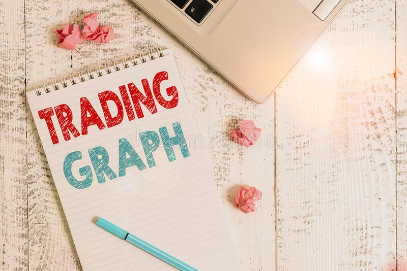 Εννοιολογική χειρόγραφη γραφή που δείχνει το Trading Graph Η επαγγελματική φωτογραφία παρουσιάζει τα υψηλότερα και χαμηλότερα επί στοκ εικόνες