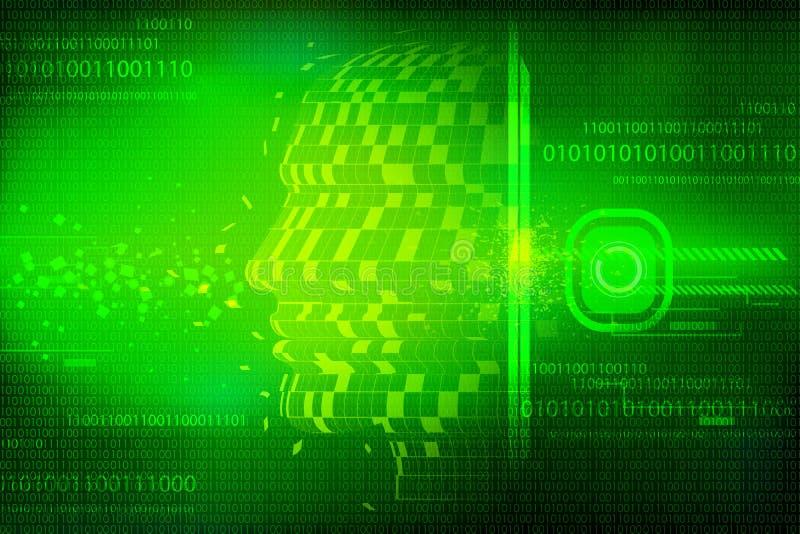 εννοιολογικός τεχνολ&o διανυσματική απεικόνιση