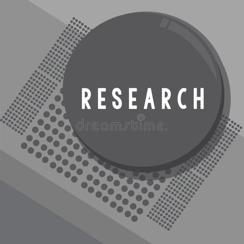Εννοιολογικό χέρι που γράφει παρουσιάζοντας έρευνα Επιχειρησιακή φωτογραφία που επιδεικνύει τη συστηματική έρευνα σχετικά με και  διανυσματική απεικόνιση