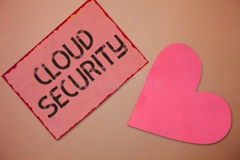 Εννοιολογικό χέρι που γράφει παρουσιάζοντας ασφάλεια σύννεφων Το κείμενο επιχειρησιακών φωτογραφιών προστατεύει την αποθηκευμένη  στοκ φωτογραφίες