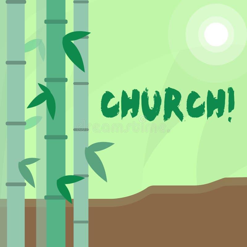 Εννοιολογικό χέρι που γράφει παρουσιάζοντας εκκλησία Η λάρνακα αδύτων μουσουλμανικών τεμενών παρεκκλησιών πύργων βωμών καθεδρικών ελεύθερη απεικόνιση δικαιώματος