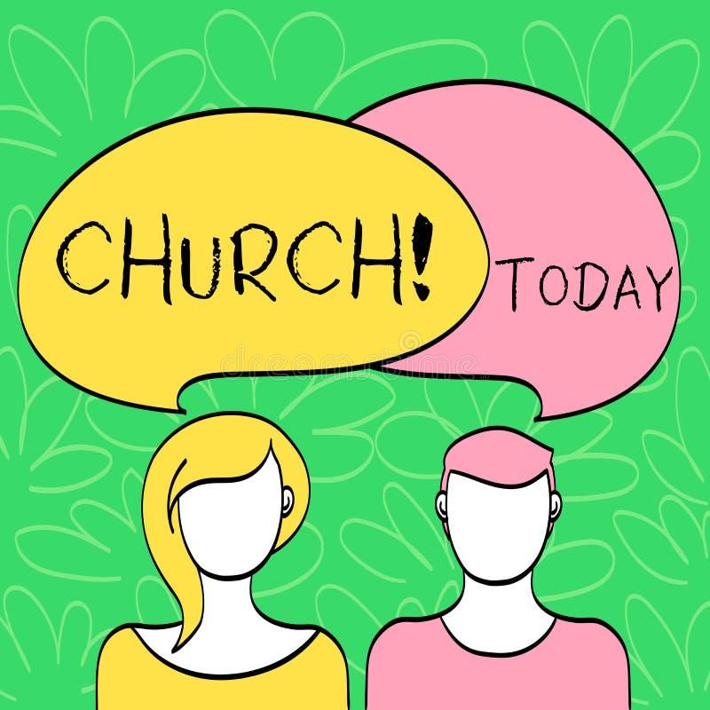 Εννοιολογικό χέρι που γράφει παρουσιάζοντας εκκλησία Η λάρνακα αδύτων μουσουλμανικών τεμενών παρεκκλησιών πύργων βωμών καθεδρικών διανυσματική απεικόνιση